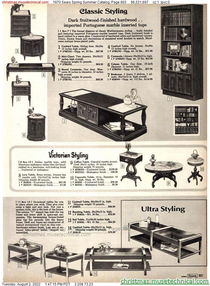 1970 Sears Spring Summer Catalog, Page 893
