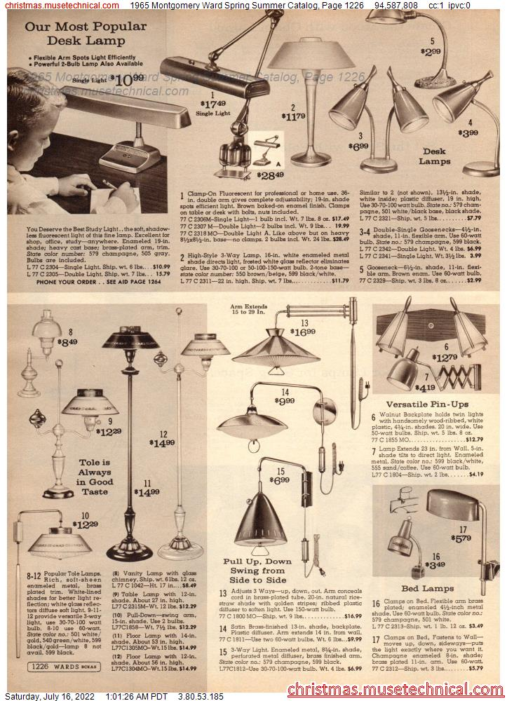 1965 Montgomery Ward Spring Summer Catalog, Page 1226