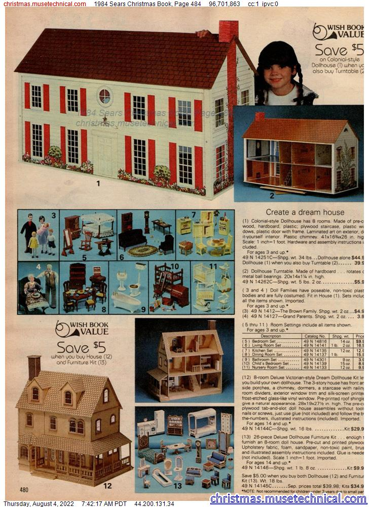 1984 Sears Christmas Book, Page 484