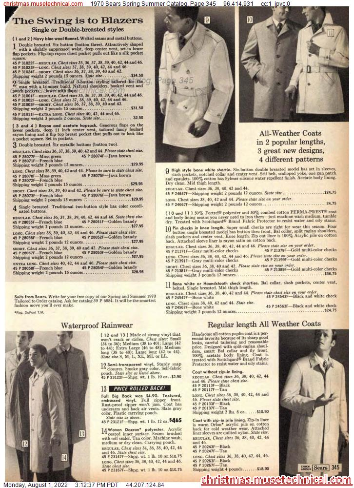 1970 Sears Spring Summer Catalog, Page 345