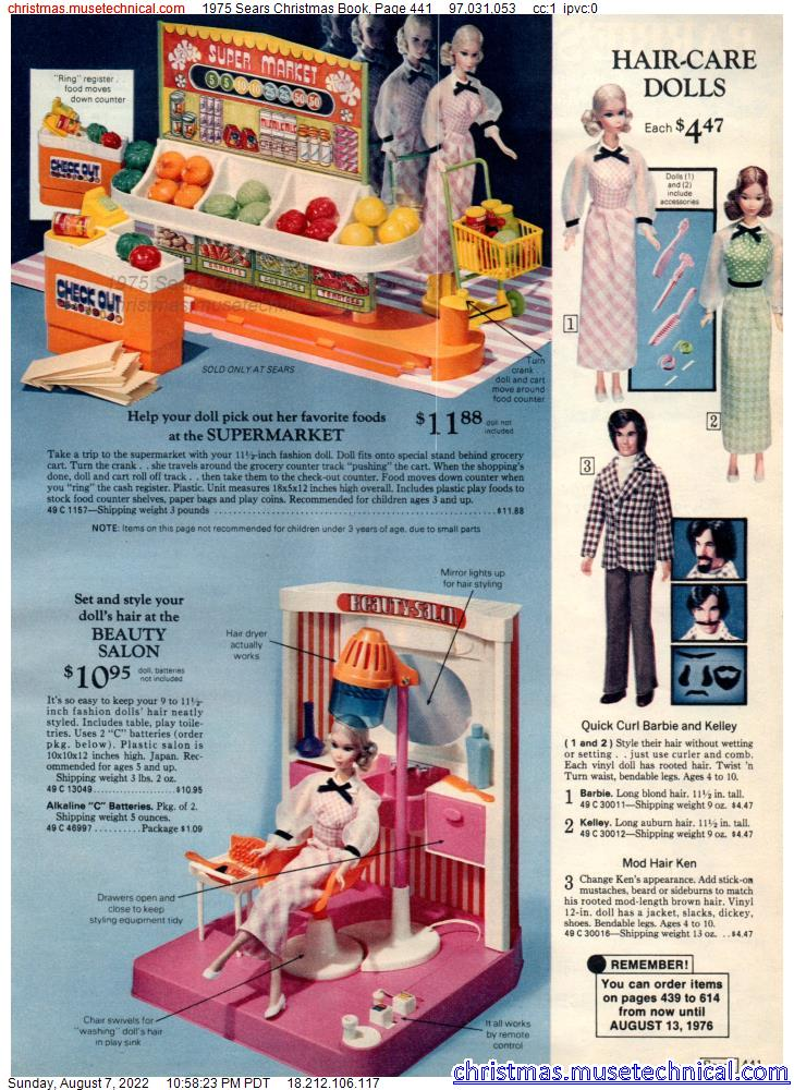 1975 Sears Christmas Book, Page 441