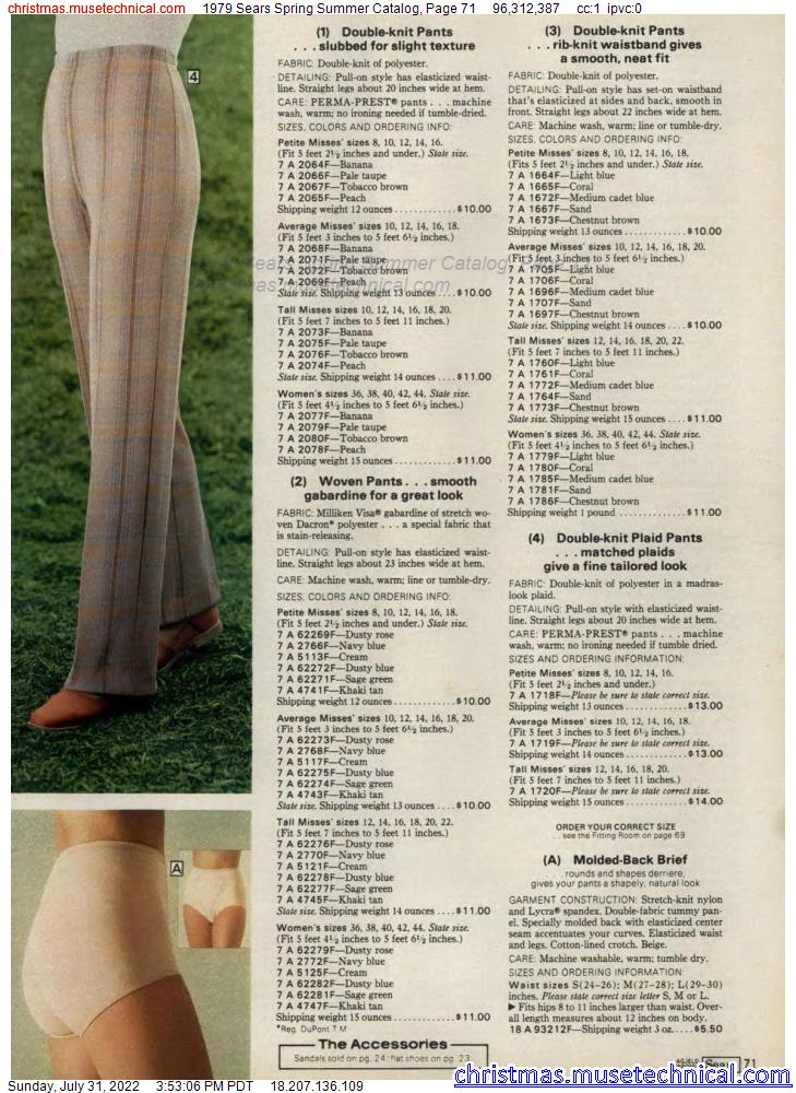 1979 Sears Spring Summer Catalog, Page 71