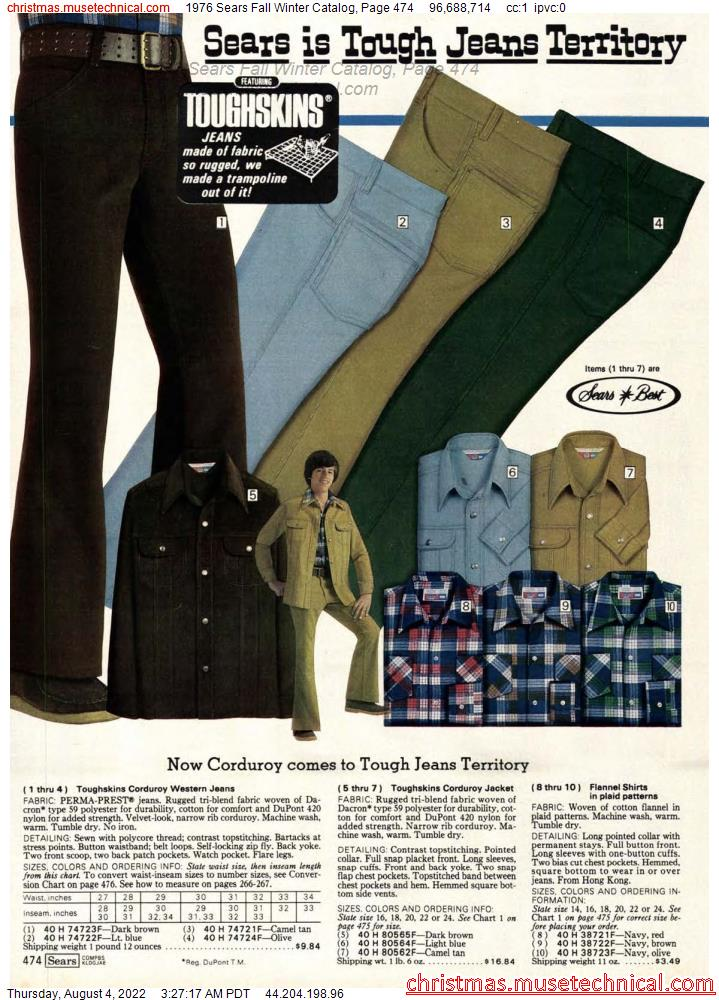 1976 Sears Fall Winter Catalog, Page 474