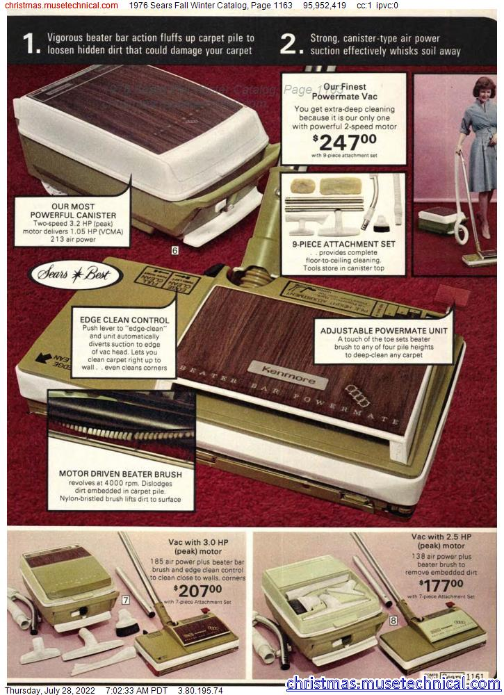 1976 Sears Fall Winter Catalog, Page 1163