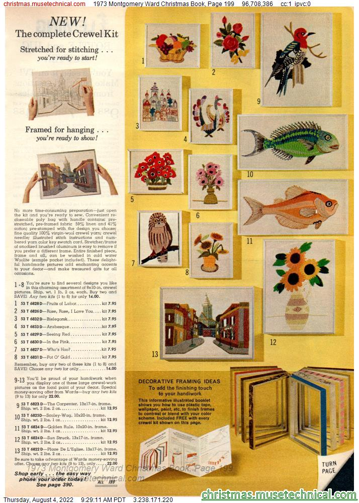 1973 Montgomery Ward Christmas Book, Page 199