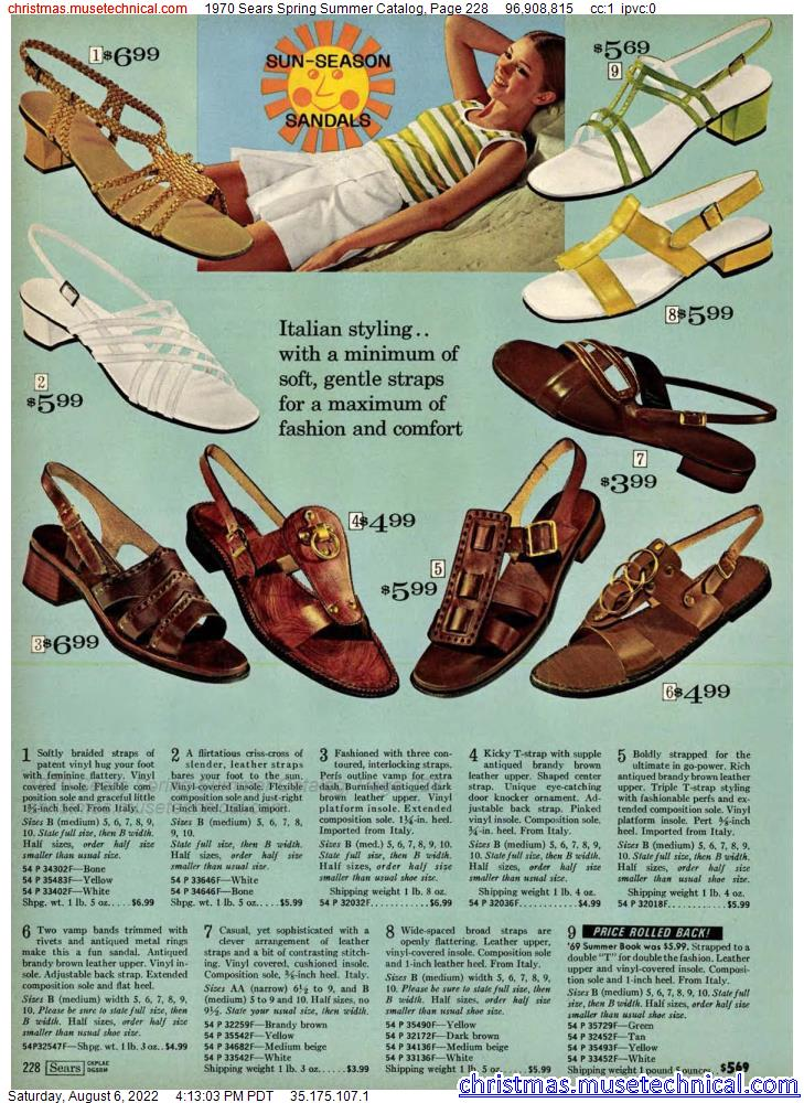 1970 Sears Spring Summer Catalog, Page 228