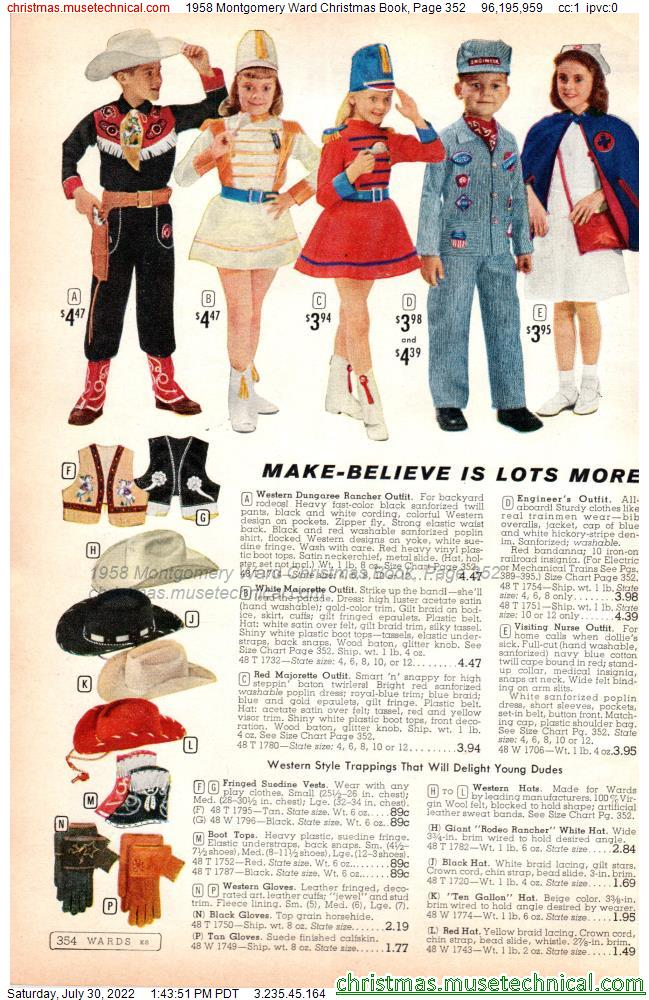 1958 Montgomery Ward Christmas Book, Page 352