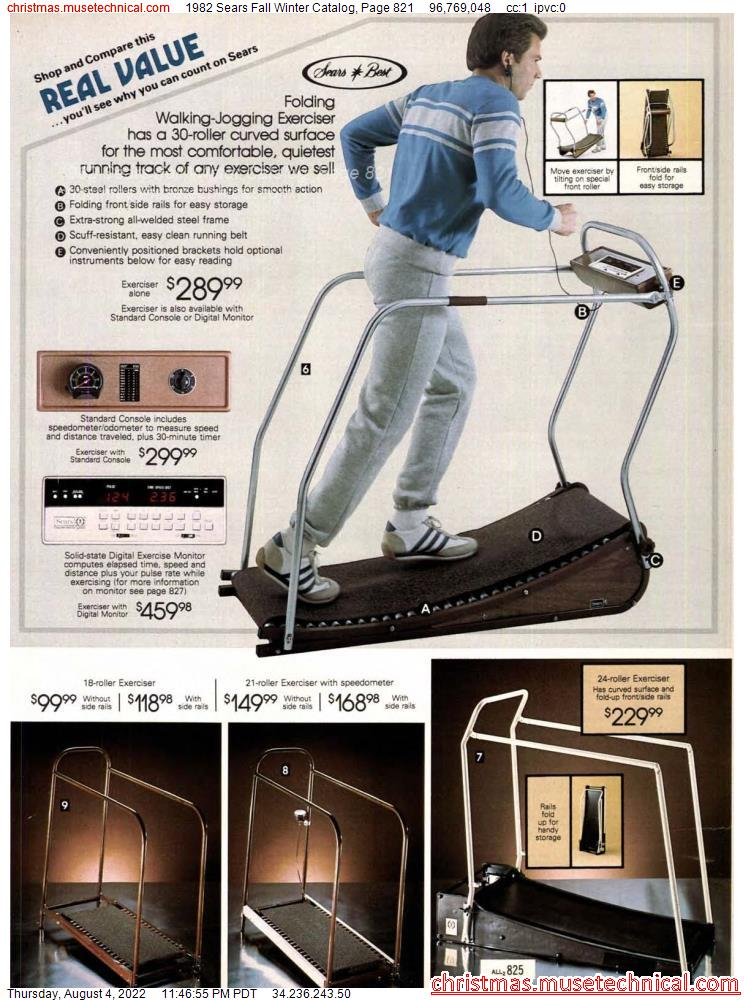 1982 Sears Fall Winter Catalog, Page 821