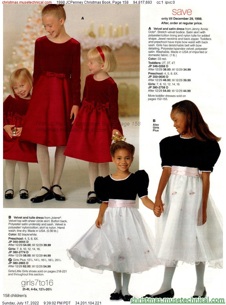 1998 JCPenney Christmas Book, Page 158