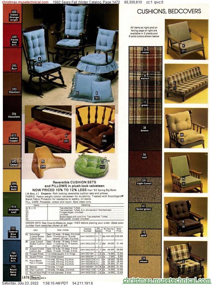 1982 Sears Fall Winter Catalog, Page 1472
