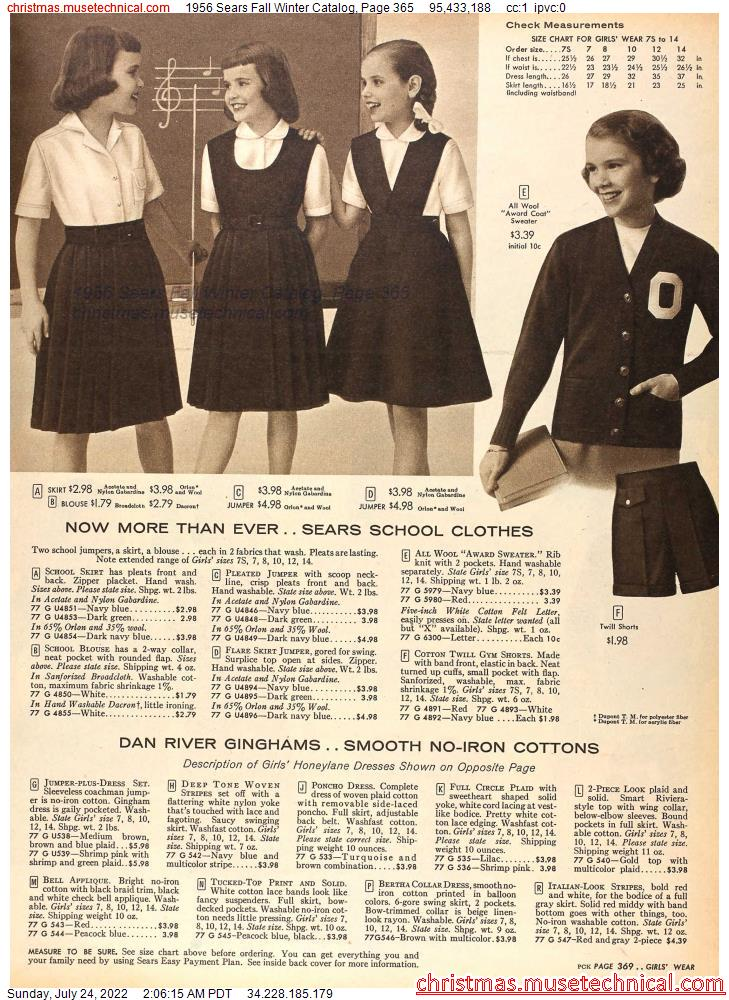 1956 Sears Fall Winter Catalog, Page 365