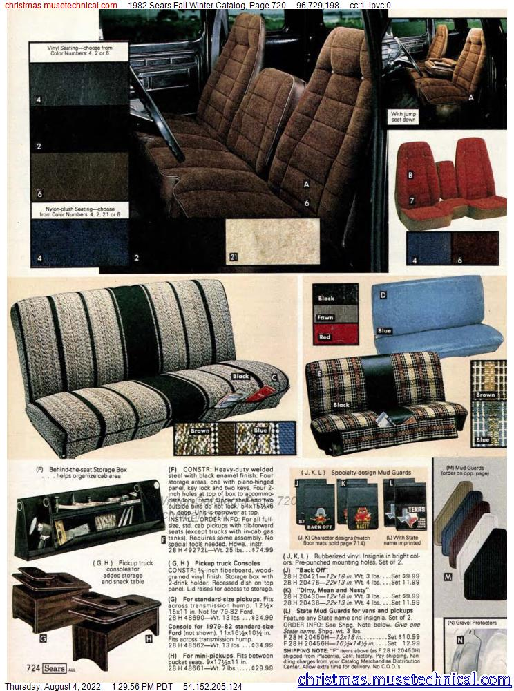 1982 Sears Fall Winter Catalog, Page 720