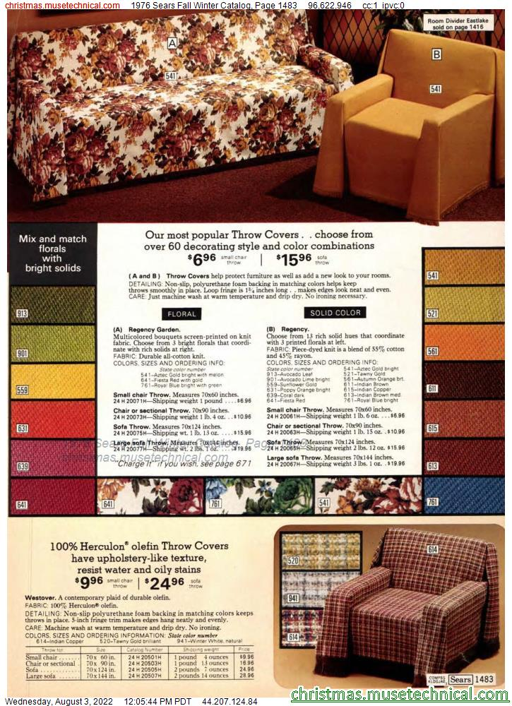 1976 Sears Fall Winter Catalog, Page 1483