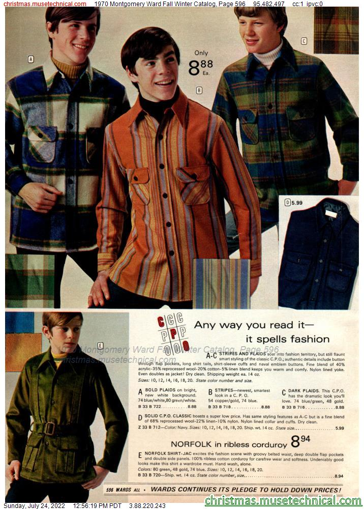 1970 Montgomery Ward Fall Winter Catalog, Page 596
