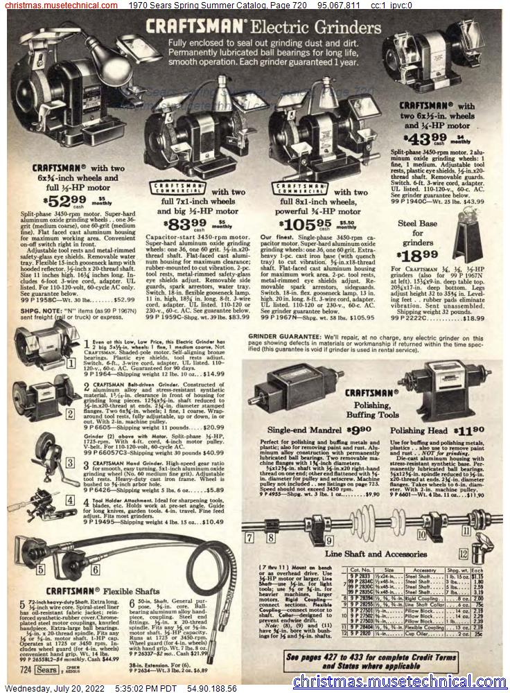 1970 Sears Spring Summer Catalog, Page 720