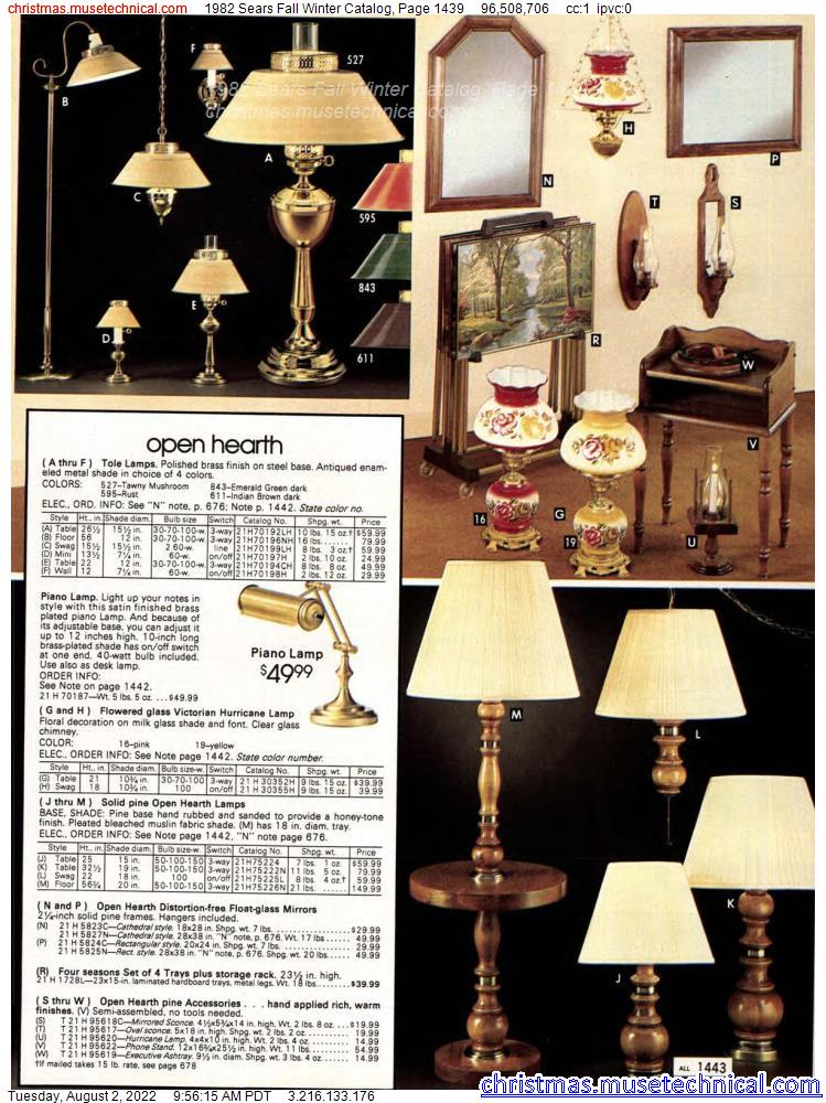 1982 Sears Fall Winter Catalog, Page 1439