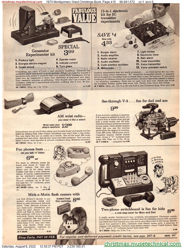 1970 Montgomery Ward Christmas Book, Page 415