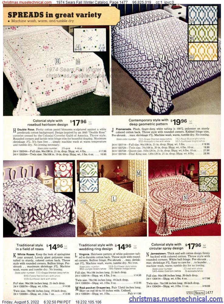 1974 Sears Fall Winter Catalog, Page 1477