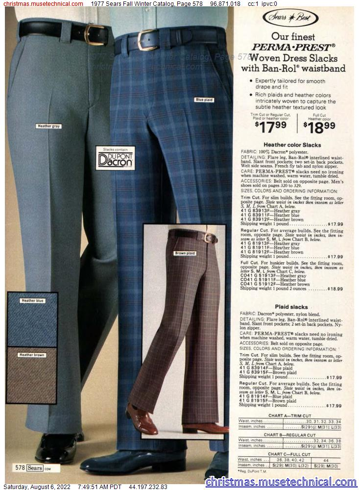 1977 Sears Fall Winter Catalog, Page 578