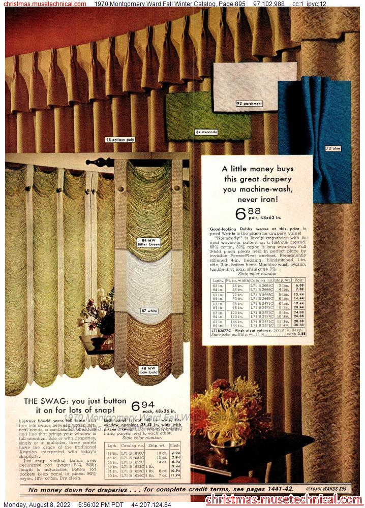 1970 Montgomery Ward Fall Winter Catalog, Page 895