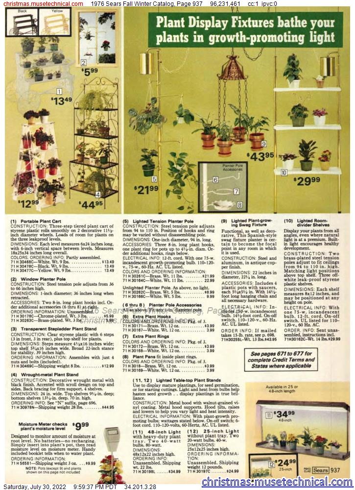 1976 Sears Fall Winter Catalog, Page 937