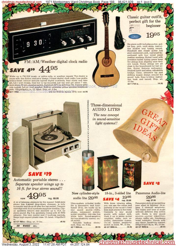 1971 Montgomery Ward Christmas Book, Page 188
