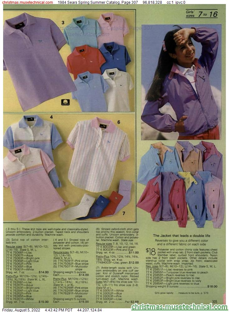 1984 Sears Spring Summer Catalog, Page 307