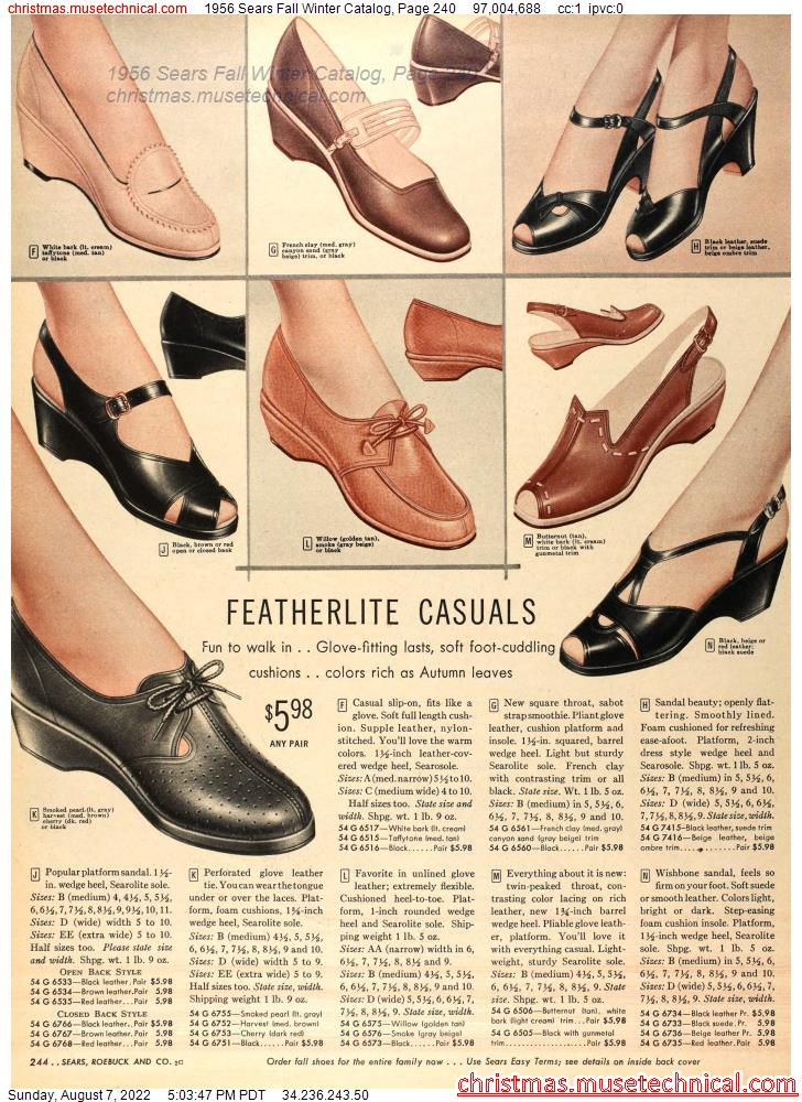 1956 Sears Fall Winter Catalog, Page 240