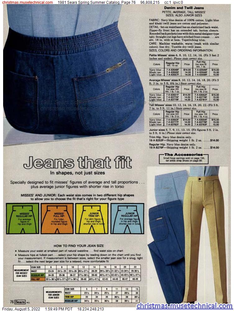 1981 Sears Spring Summer Catalog, Page 76