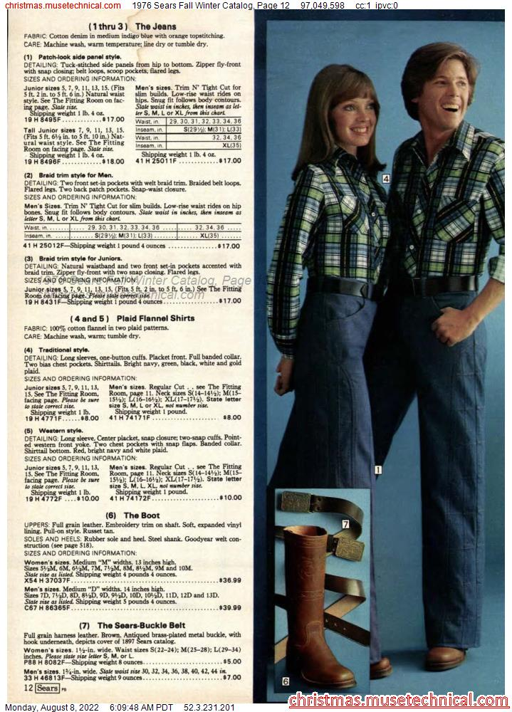 1976 Sears Fall Winter Catalog, Page 12
