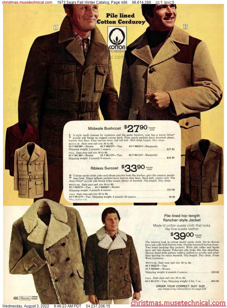 1973 Sears Fall Winter Catalog, Page 486