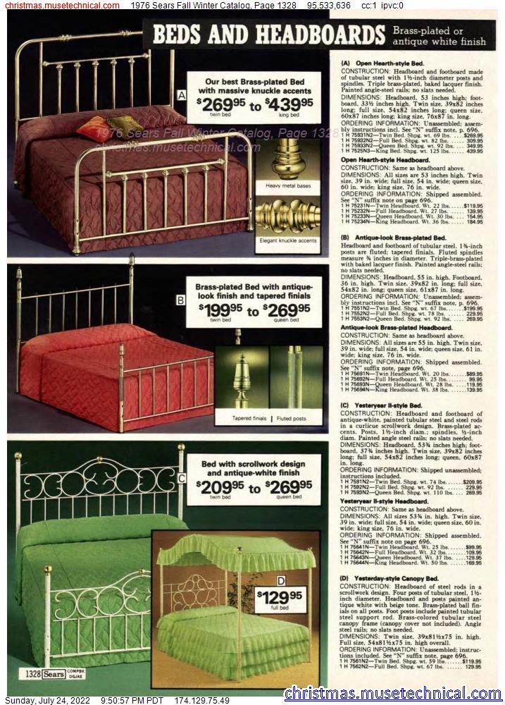 1976 Sears Fall Winter Catalog, Page 1328