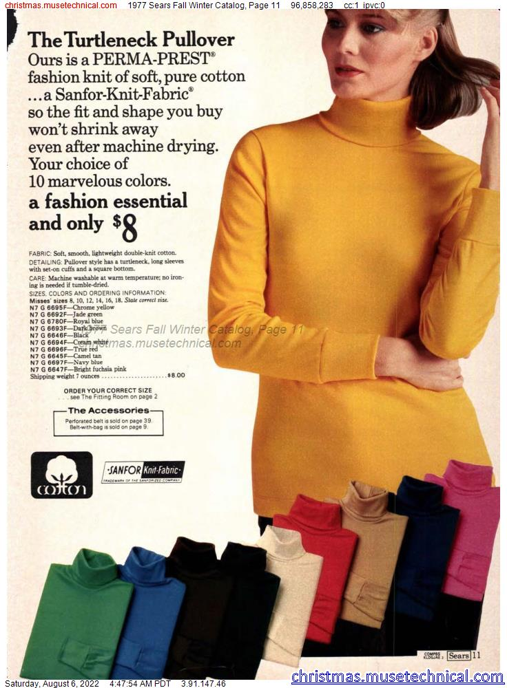 1977 Sears Fall Winter Catalog, Page 11