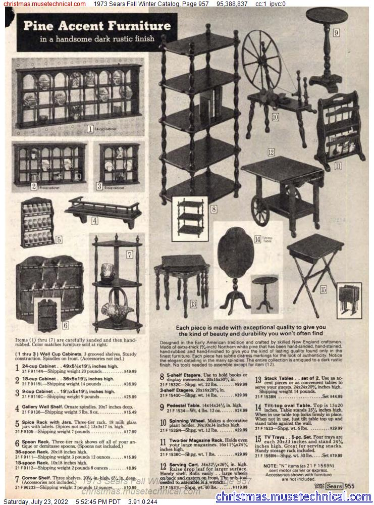 1973 Sears Fall Winter Catalog, Page 957