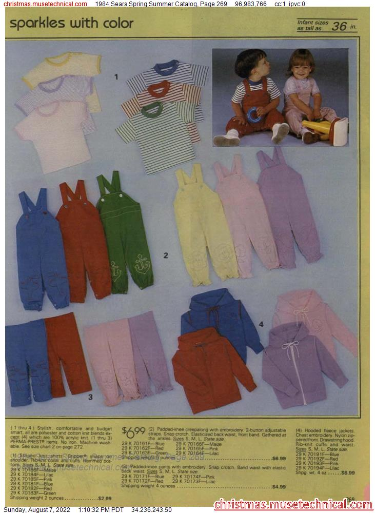 1984 Sears Spring Summer Catalog, Page 269