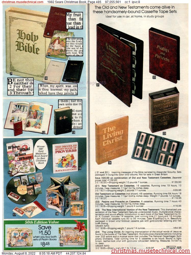 1982 Sears Christmas Book, Page 485