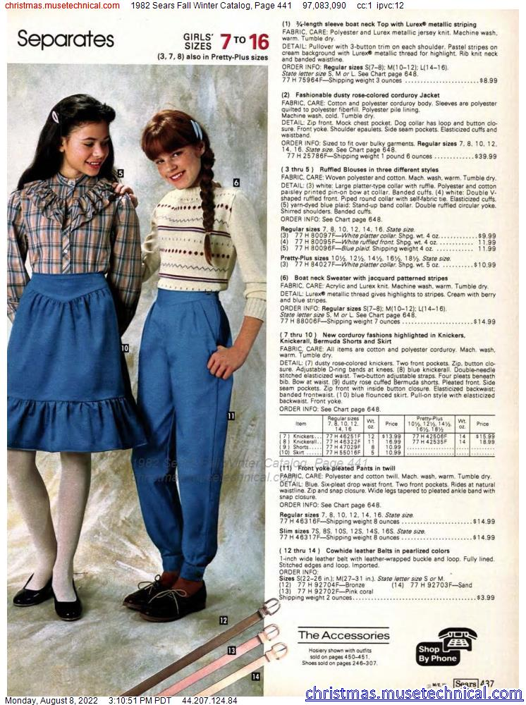 1982 Sears Fall Winter Catalog, Page 441