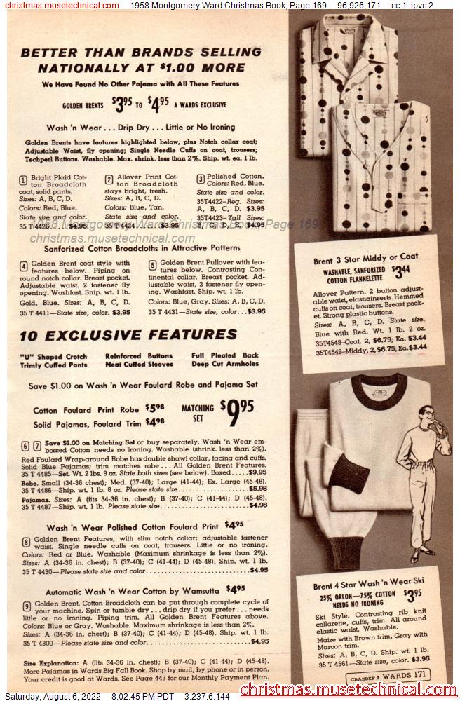 1958 Montgomery Ward Christmas Book, Page 169
