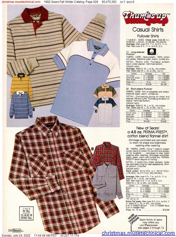 1982 Sears Fall Winter Catalog, Page 526