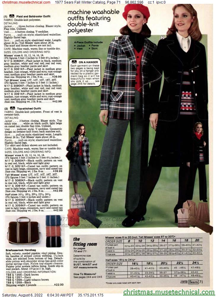 1977 Sears Fall Winter Catalog, Page 71