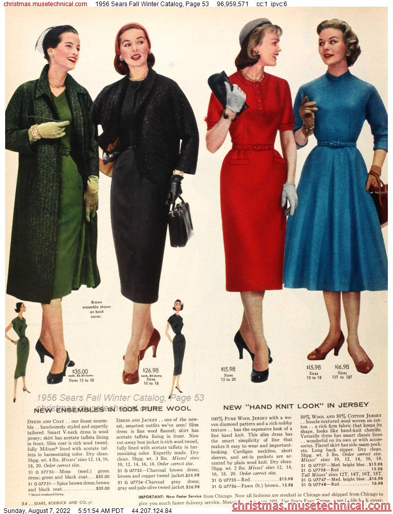 1956 Sears Fall Winter Catalog, Page 53