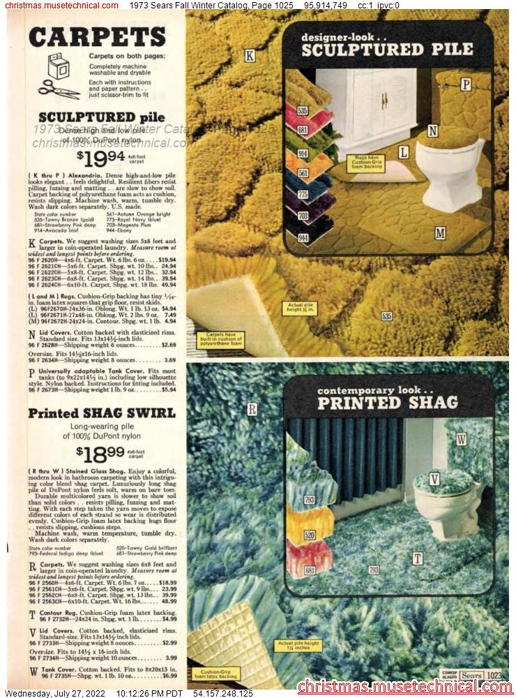 1973 Sears Fall Winter Catalog, Page 1025