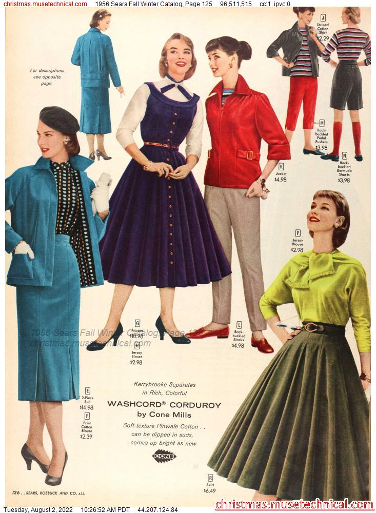 1956 Sears Fall Winter Catalog, Page 125