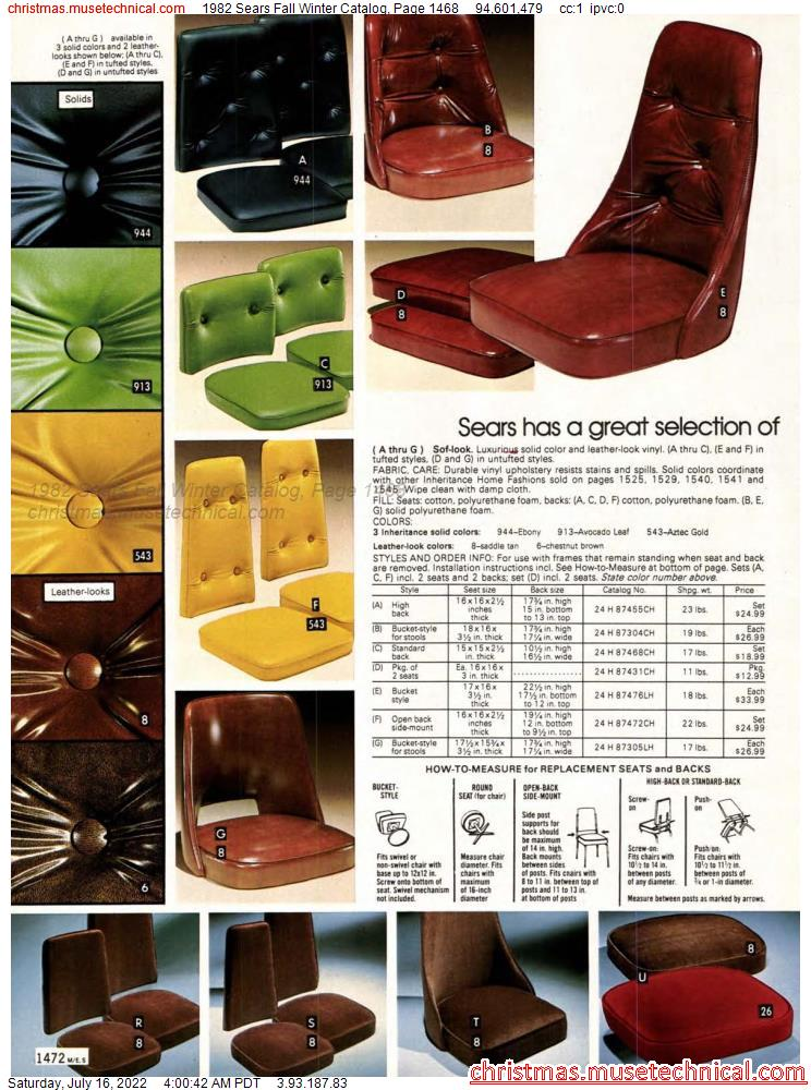 1982 Sears Fall Winter Catalog, Page 1468