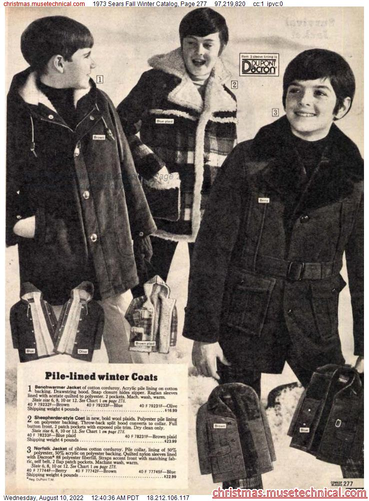 1973 Sears Fall Winter Catalog, Page 277