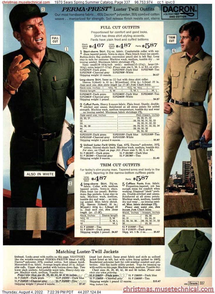 1970 Sears Spring Summer Catalog, Page 337