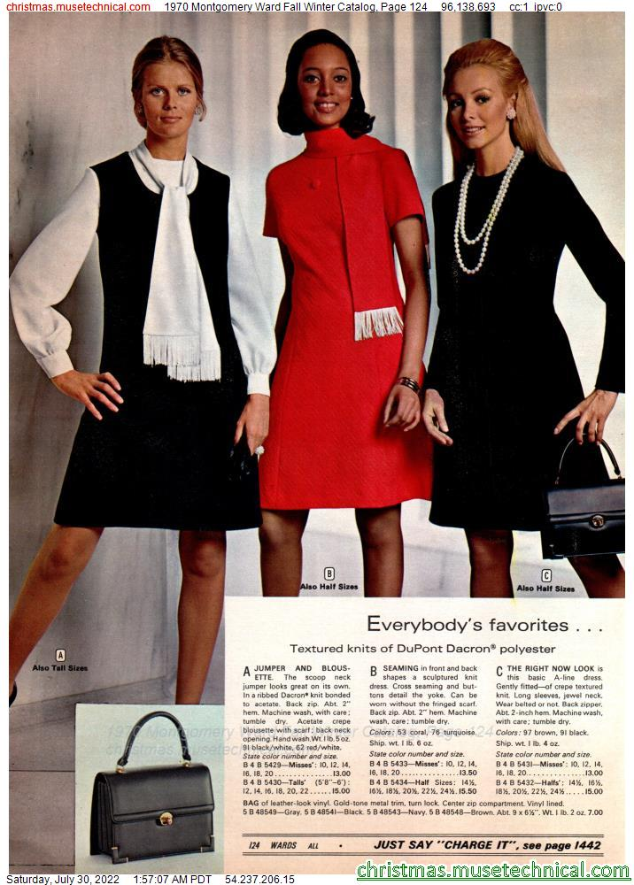 1970 Montgomery Ward Fall Winter Catalog, Page 124