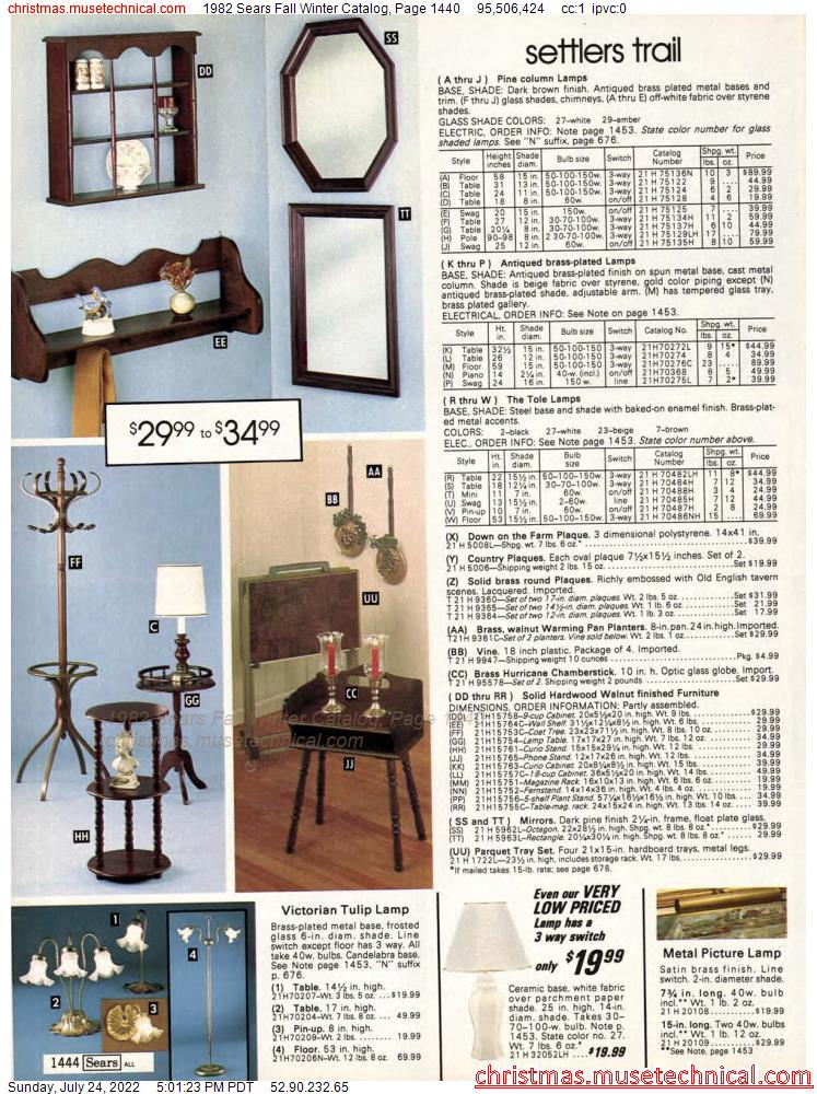 1982 Sears Fall Winter Catalog, Page 1440