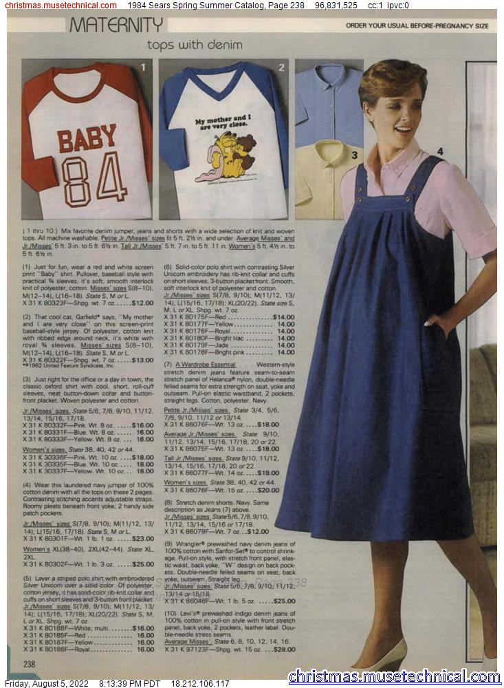 1984 Sears Spring Summer Catalog, Page 238