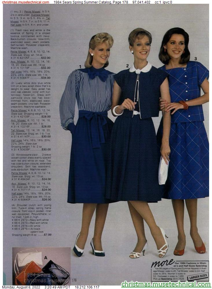 1984 Sears Spring Summer Catalog, Page 178
